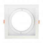 Frame for Downlight KALI square for 1 bulb AR111 L.17xW.17xH.4,3cm Polycarbonate (PC) White