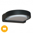 Aplique SABOR. IP54 1xE27 L.27xAn.25xAl.8cm Aluminio+Plástico Negro/Blanco