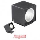 Aplique KUBO IP66 1x6W LED 660lm 4000K L.6,2xAn.6,2xAl.7,2cm Antracita