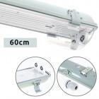 Waterproof Lamp LINESTA IP65 2xG13 T8 LED 60cm W.65,6xW.11,5xH.9,0cm Gray