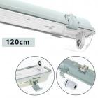 Waterproof Lamp LINESTA IP65 1xG13 T8 LED 120cm W.126xW.8,0xH.9,0cm Gray