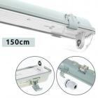 Waterproof Lamp LINESTA IP65 1xG13 T8 LED 150cm W.156xW.8,0xH.9,0cm Gray