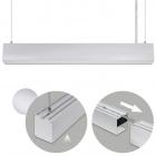 Suspending Light LINEX B2 60cm 1x20W LED 1600lm 3000K 110° L.60,3xW.5,8xH.Reg.cm Aluminium