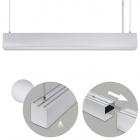 Suspending Light LINEX B2 120cm 1x40W LED 3200lm 3000K 110° L.119,8xW.5,8xH.Reg.cm Aluminium