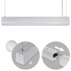 Suspending Light LINEX B2 120cm 1x40W LED 3200lm 6400K 110° L.119,8xW.5,8xH.Reg.cm Aluminium