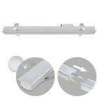Recessed Linear Light LINEX B2 60cm 1x20W LED 1600lm 4000K 110° L.61,5xW.6,5xH.3,5cm Aluminium