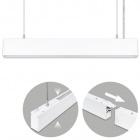 Suspending Light LINEX B2 60cm 1x20W LED+1x8W LED 1600lm 3000K 110° L.57xW.4xH.Reg.cm White
