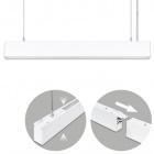 Suspending Light LINEX B2 120cm 1x40W LED+1x16W LED 3200lm 3000K 110° L.118xW.4xH.Reg.cm White