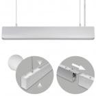 Suspending Light LINEX B2 60cm 1x20W LED+1x8W LED 1600lm 3000K 110° L.57xW.4xH.Reg.cm Aluminium