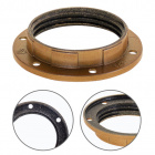 Gold painted shade ring for E27 threaded lampholder H.12mm D.57mm, in thermoplastic resin