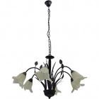 Ceiling Lamp GRASSE 6xE14 H.Reg.xD.80cm Brown
