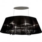 Ceiling Lamp OLÍMPIA 6xE14 L.96xW.48xH.Reg.cm Black/Chrome