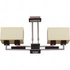 Lámpara de Techo ALDINA retangular 4xE14 L.65xAn.11xAl.Reg.cm Wengue/Cromo