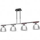 Ceiling Lamp LONDRINA 4xE14 L.90xW.14xH.Reg.cm Wengue/Chrome