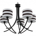 Ceiling Lamp ALMERIA 5xE14 H.Reg.xD.67cm Brown/Beije