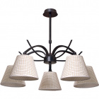 Ceiling Lamp GRANADA 5xE14 H.Reg.xD.63cm Brown/Beije