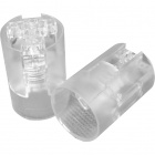 Transparent E14 2-pieces lampholder with plain outer shell, in thermoplastic resin