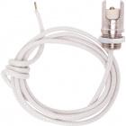 Portal. R7s blanco p/lamparas halogenas c/tuerca y cableado de silicona revestido de fibra de vidrio