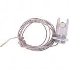 Portalámparas R7s blanco cableado con cable teflon 100cm en metal