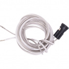 Portalámparas G4 con 1,00m cable en plastico blanco