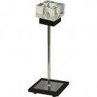 Candeeiro de mesa MARA 1xG9 C.11xL.11xAlt.30cm Wengue/Cromado