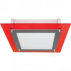 Plafond MICAELA quadrado pequeno 4xE27 C.35xL.35xAlt.8,5cm Vermelho