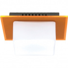 Aplique REBECA quadrado 1xG9 C.16xL.14xAlt.8cm Laranja