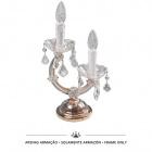 Armação Cand. mesa MARIA TERESA 2xE14 dourado