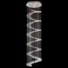 Candeeiro de tecto HOLOGRAMA redondo 8xGU10 Alt.220xD.60cm