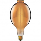 Light Bulb E27 (thick) Elliptical CLASSIC DECOLED Dimmable 8W 1800K 630lm Amber-A+