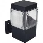 Aplique GARDUNHA cuadrado IP54 1xE27 L.18xAn.26xAl.30cm Aluminio+Plástico Negro