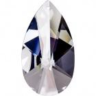 Crystal pearshape stone 8,9x5,1cm 1 hole transparent(Box)