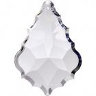 Plaqueta de cristal 5x3,5cm 1 taladro color transparente (caja)