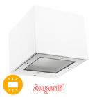 Aplique GINEVRA IP65 1xG9 L.9,5xAn.11xAl.8,2cm Aluminio+Vidrio Blanco