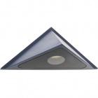 Aplique BELL IP54 1x3W LED 415lm 4000K L.25xAn.11xAl.12,5cm Aluminio+Vidrio Gris