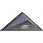 Aplique BELL IP54 1x6W LED 415lm 4000K L.25xAn.11xAl.12,5cm Aluminio+Vidrio Antracita