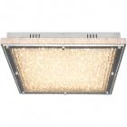 Plafond VILNIUS 1x60W LED 5400lm L.55xW.55xH.9cm Transparent/Chrome
