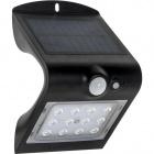 Aplique Solar SOLARIS IP65 1x1,5W LED+1xLED 220lm 6000K L.9,5xAl.14,5Negro