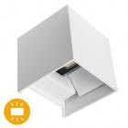 Aplique SEVER IP54 2x3W LED 560lm 3000K L.10xAn.10xAl.10cm Blanco