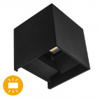 Aplique SEVER IP54 2x3W LED 550lm 4000K L.10xAn.10xAl.10cm Negro