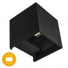 Aplique SEVER IP54 2x3W LED 560lm 6000K L.10xAn.10xAl.10cm Negro