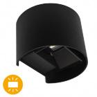 Aplique SIMONTE IP54 2x3W LED 560lm 3000K L.14xAn.11,5xAl.10cm Negro