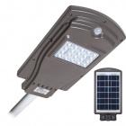Aplique Solar STREET con sensor IP65 1x20W LED 450lm 6000K L.20,5xAn.40xAl.6cm Gris