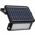 Aplique Solar MURAT con sensor IP65 1x10W LED 1080lm 6000K 90°L.30xAn.3,5xAl.21,5cm ABS+PC Negro