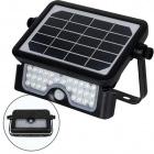 Aplique Solar MURAT con sensor IP65 1x5W LED 500lm 6000K 90°L.23,19xAn.14,94xAl.3,36cm ABS+PC Negro