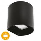Aplique SABOR IP54 2x4W LED 650lm 4000K 95°L.11xAn.9,5xAl.11cm Aluminio Negro