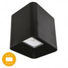 Aplique SOURE IP54 2x4W LED 650lm 3000K 95°L.11xAn.9,5xAl.11cm Aluminio Negro