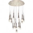 Ceiling Lamp METEOR 16x7W LED 8400lm 3300K H.Reg.xD.60cm Champanhe