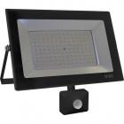 Proyector KOLYMA con sensor IP44 1x100W LED 5000lm 6500K 120°L.28xAn.7xAl.25cm Negro