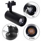 Track Spotlights ARGOS 1x30W LED 2700K L.17xxD.8cm Black
